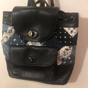 Coach Blue Patchwork Mini Backpack Purse